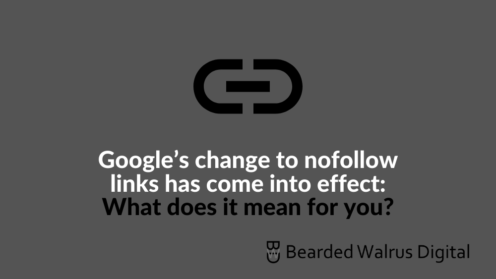 Google's change to nofollow links has come into effect